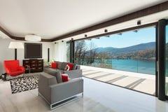 Binnenland, moderne woonkamer Royalty-vrije Stock Fotografie