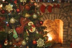 Binnenland op de vooravond van Kerstmis stock foto
