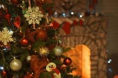 Binnenland op de vooravond van Kerstmis royalty-vrije stock fotografie