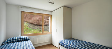 Binnenland, slaapkamer Royalty-vrije Stock Afbeelding