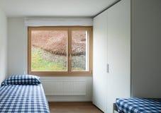 Binnenland, slaapkamer Stock Foto