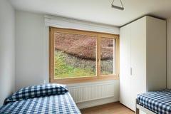 Binnenland, slaapkamer Stock Afbeeldingen
