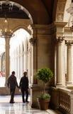 Binnenland in stadhuis van Barcelona Royalty-vrije Stock Fotografie