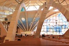 Binnenland van Aalmoezenier Pio Pilgrimage Church, Italië Stock Fotografie