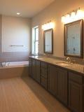 Binnenland van aardige bathroon in een nieuw huis Royalty-vrije Stock Afbeeldingen