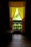 Binnenland van antiek Etnisch Maleis huis royalty-vrije stock foto's