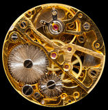 Binnenland van antiek hand wown horloge Stock Foto's
