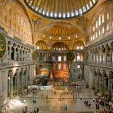 Binnenland van Aya Sophia - Byzantijnse basiliek Stock Afbeelding