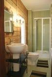 binnenland van badkamers stock foto