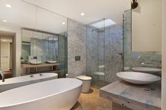 Binnenland van badkamers Royalty-vrije Stock Afbeeldingen