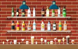 Binnenland van bar, koffie of bar royalty-vrije illustratie