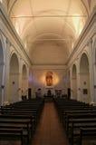 Binnenland van Basiliek van het Heilige Sacrament in Colonia del Sacram Royalty-vrije Stock Fotografie