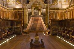 Binnenland van beroemd Yuso-klooster in San Millan DE La Cogolla royalty-vrije stock fotografie