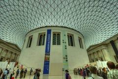 Binnenland van British Museum, Londen Stock Afbeeldingen