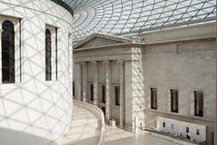 Binnenland van British Museum in Londen Stock Afbeelding