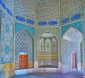 Binnenland van Chaharbagh Madraseh, Isphahan, Iran stock fotografie