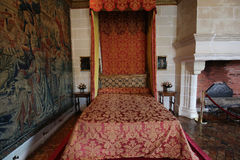 Binnenland van Chateau DE Chenonceau, Vallee DE La de Loire, Frankrijk Royalty-vrije Stock Afbeeldingen