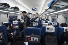 Binnenland van Chinese hoge snelheidstrein royalty-vrije stock foto