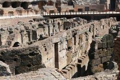 Binnenland van Coliseum - Rome Stock Foto