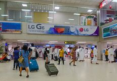 Binnenland van Colombo Airport, Sri Lanka stock foto's