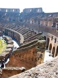 Binnenland van Colosseum, Roman Ruïnes, Rome, Italië Royalty-vrije Stock Fotografie