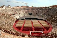 Binnenland van de Arena in Verona, Italië royalty-vrije stock foto