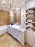 Binnenland van de badkamers van de Provence Royalty-vrije Stock Afbeeldingen