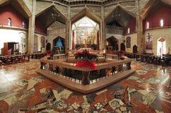 Binnenland van de Basiliek van de Aankondiging royalty-vrije stock afbeeldingen