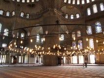 Binnenland van de Blauwe moskee Stock Fotografie