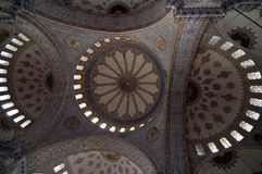 Binnenland van de Blauwe Moskee Royalty-vrije Stock Fotografie