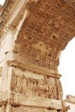 Binnenland van de Boog van Titus in het Roman Forum Stock Foto