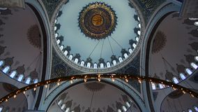 Binnenland van de Camlica-Moskee Ä°stanbul Turkije stock video