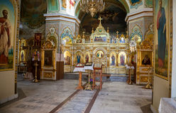 Binnenland van de Geboorte van Christuskerk De kerk werd opgericht in 1833 Stock Afbeeldingen