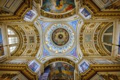 Binnenland van de Heilige Isaac Cathedral St Petersburg, Rusland Stock Foto