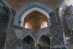 Binnenland van de Kabud-Moskee Stock Foto