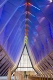 Binnenland van de Kapel van de Luchtmachtacademie Stock Fotografie