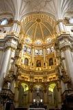 Binnenland van de kathedraal van Granada 02 Royalty-vrije Stock Foto's