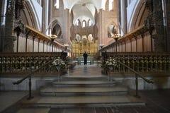 Binnenland van de Kathedraal van Roskilde, Denemarken royalty-vrije stock afbeelding