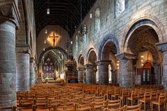 Binnenland van de kathedraal in Stavanger stock foto's