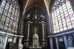 Binnenland van de kathedraal van Heilige Bavon, Gent, België royalty-vrije stock foto