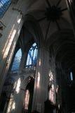 Binnenland van de Kathedraal van Onze Dame van Chartres Stock Afbeelding