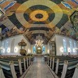 Binnenland van de Kathedraal van Oslo, Noorwegen Royalty-vrije Stock Foto