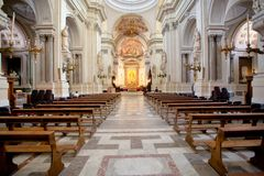 Binnenland van de Kathedraal van Palermo, Sicilië Stock Fotografie