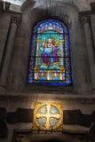 Binnenland van de kathedraal van Santiago DE Compostela Stock Afbeelding