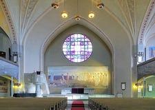 Binnenland van de Kathedraal van Tampere, Finland Royalty-vrije Stock Afbeelding