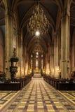 Binnenland van de Kathedraal van Zagreb stock afbeeldingen