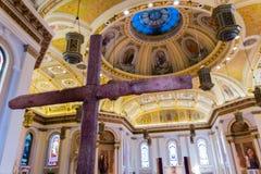 Binnenland van de Kathedraalbasiliek van St Joseph Stock Afbeelding