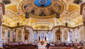 Binnenland van de Kathedraalbasiliek van St Joseph stock afbeeldingen
