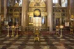 binnenland van de Kazan Kathedraal in St. Petersburg royalty-vrije stock afbeelding