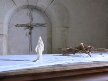 Binnenland van de kerk Stock Afbeeldingen